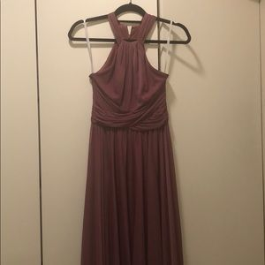 David's Bridal Bridesmaid Dress - Chianti - F19931